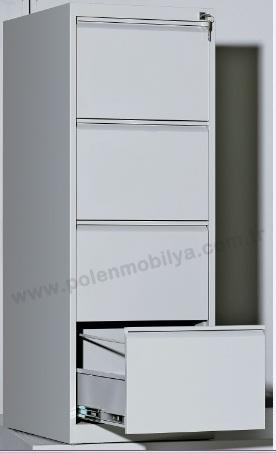 DÖRTLÜ ÇELİK DOSYA DOLABI - PLN-8136-İ