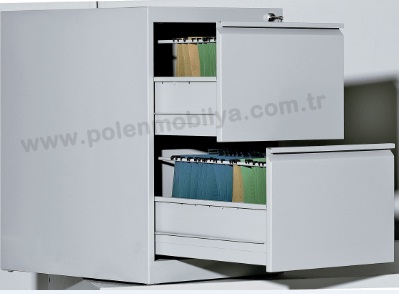 ÇELİK İKİLİ DOSYA DOLABI - PLN-8140-İ